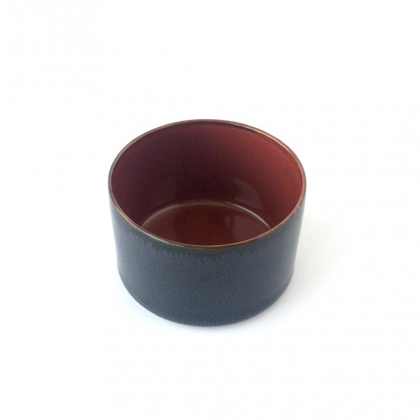 kleine Schale ø 7,5 cm dunkelblau rotrost d glänzend rund 16 cl