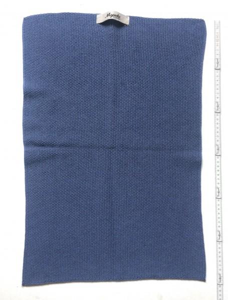 Handtuch Strick Tuch 60 x 40 cm blau fein gestrickt