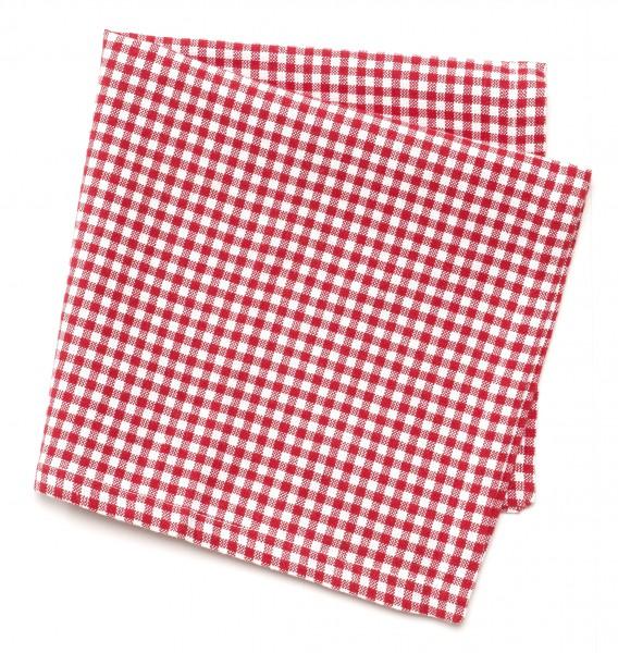 Serviette rot weiß kariert, rotweiß Karos, Vichykaro, 42 x 42 cm