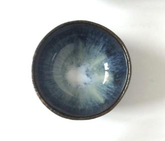 Schüssel Schale blau beige grün schwarz braun glänzend ø 11 cm