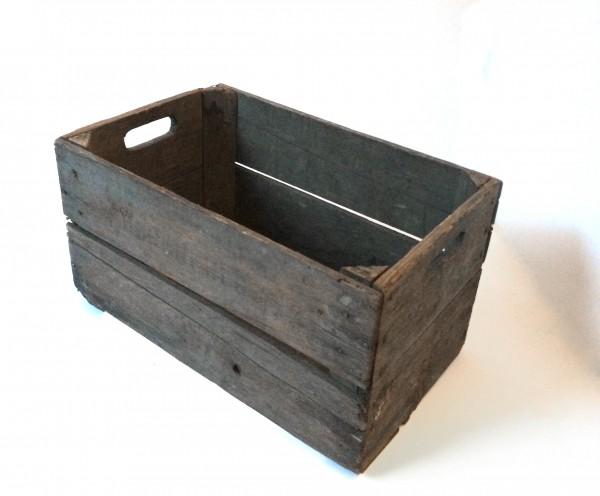 Holzkiste, Apfelkiste, braun, gebraucht, L 49cm x B 31cm x H 27cm