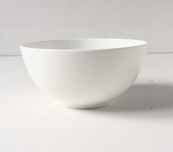 Schale, Müslischale, Frühstücksschale, weiß hellbeige, Porzellan ø 15 cm