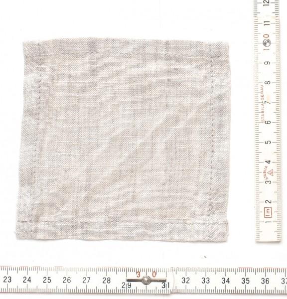 kleiner Leinen Untersetzer Minituch10 x 10 cm beige