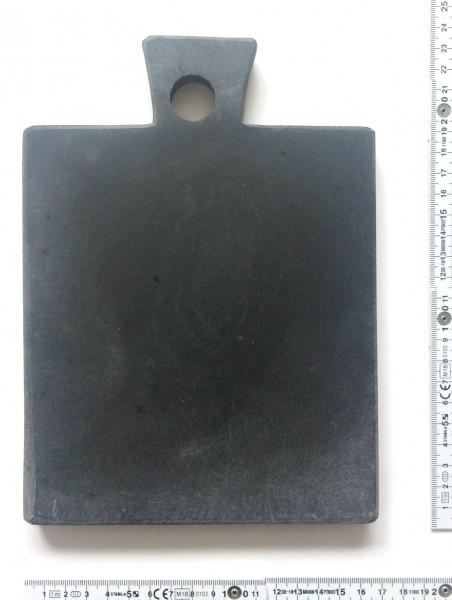 Schneidebrett, Stein quadratisch L 22 cm B 16 cm H 1,8, schwarz