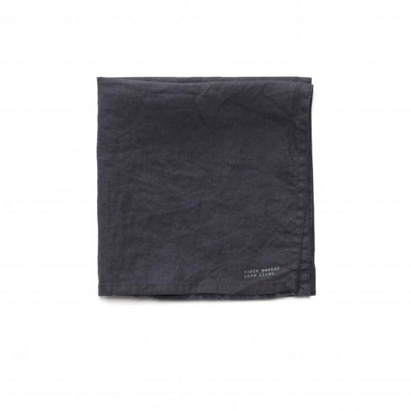 Serviette Leinen anthrazit dunkel grau 45 x 45 cm, Loch an Seitennaht