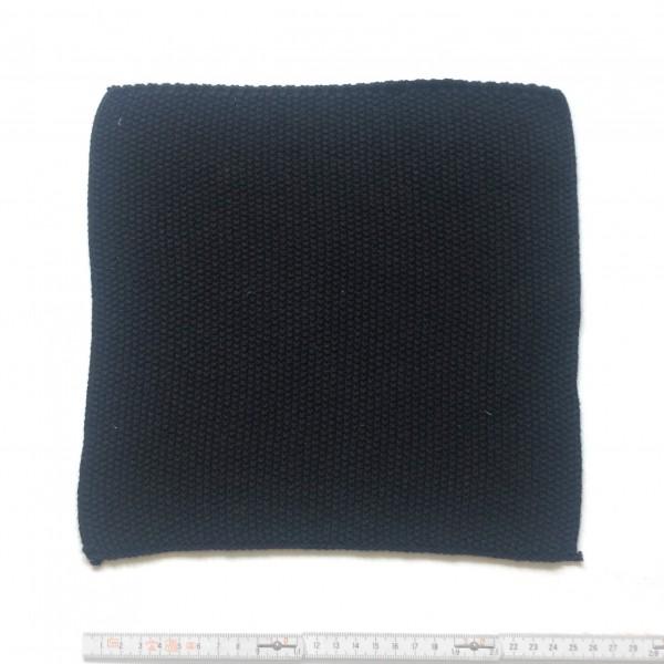 Topflappen Tuch feiner gestrickt 25 x 25 cm schwarz