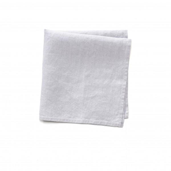 Serviette Leinen hell grau-blau 45 x 45 cm, kleiner brauner Fleck