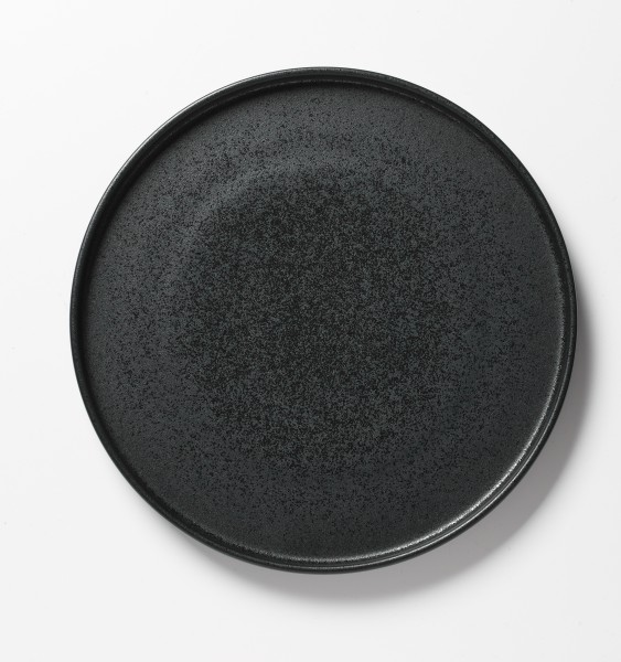 Frühstücksteller schwarz matte Glasur ø 27 cm