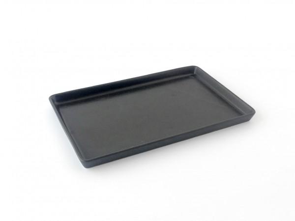 Platte L 30 cm x B 19 cm matt schwarz
