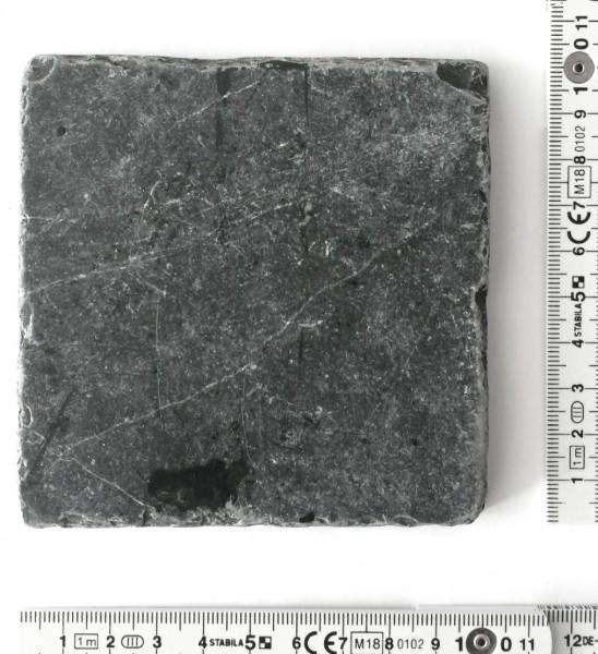 Fliese 10 x 10 cm Bruchkante Mamor grau chwarz