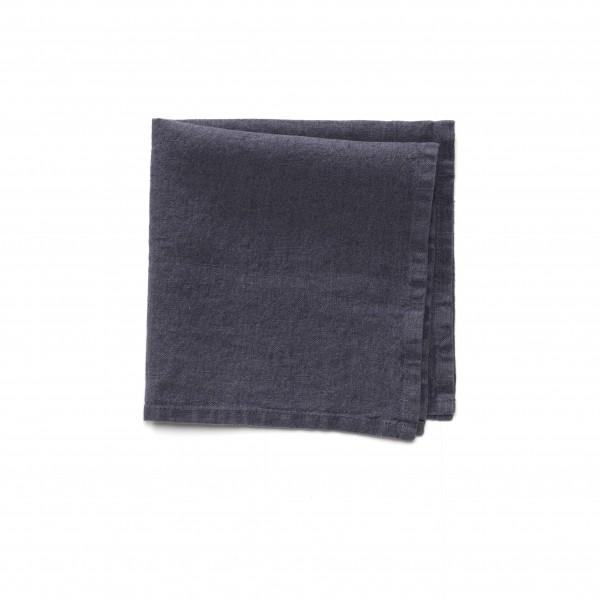 Serviette Leinen dunkel graublau 45 x 45 cm