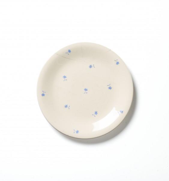 Frühstücksteller Teller ø 20 cm kleine blaue Blumen vintage