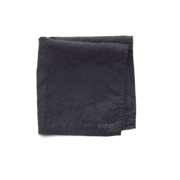 Serviette Leinen anthrazit dunkel grau 45 x 45 cm
