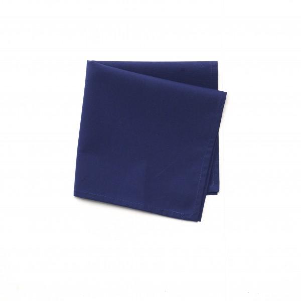 Serviette Baumwolle Polyester blau dunkelblau unifarben 38,5 x 38,5 cm