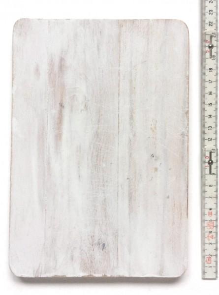 Schneidebrett LxBxH 21,8 x 15 x 1,1 cm, weiß angestrichen rechteckig