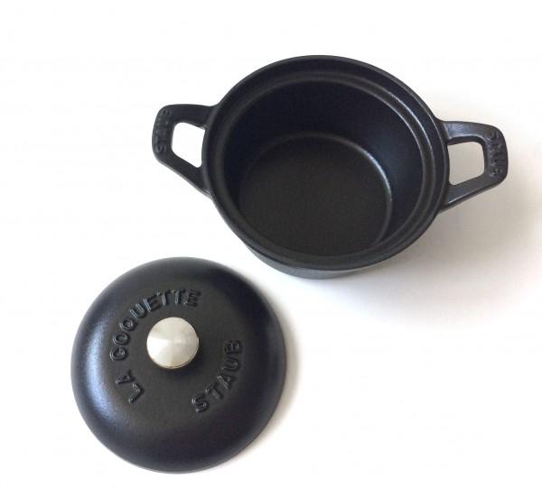 Topf Cocotte Gusseisen, schwarz, semi matt ø ca. 12 cm, klein