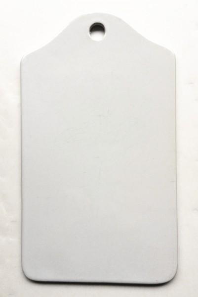 Frühstücksbrett mit Loch LxBxH 25,5 x 15 x 0,5 cm, weiß porzellan rechteckig schnörkellos