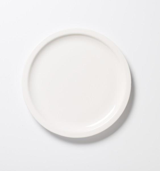 Frühstücksteller ø ca 22,5 cm weiß dicker Rand