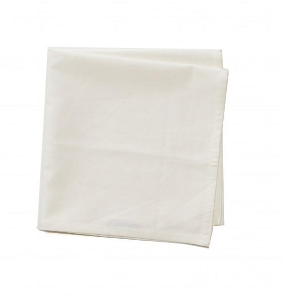 Serviette Baumwolle weißbeige creme 50 x 50 cm