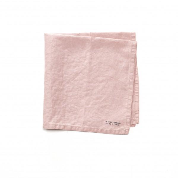 Serviette Leinen alt-rosa 45 x 45 cm