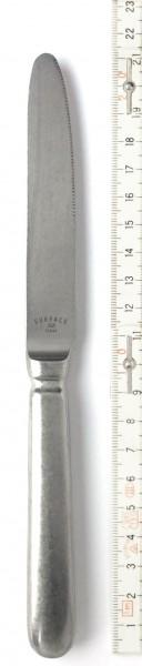 Besteck Frühstücksmesser L 21 cm Edelstahl silber vintage look used surface