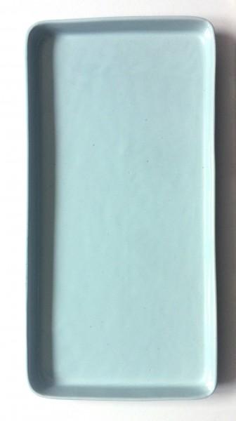 Servierplatte Teller L 37 cm B 19 cm türkisblau rechteckig