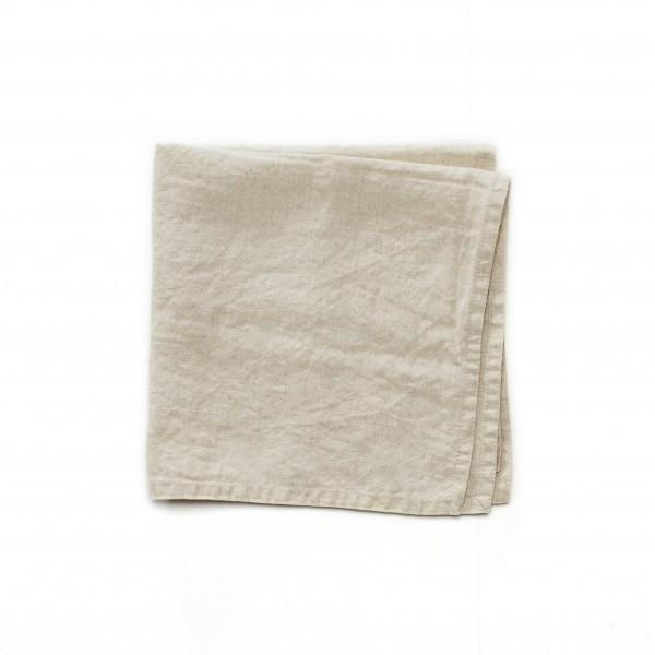 Serviette Leinen beige 45 x 45 cm